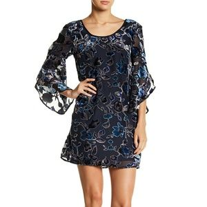 Band Of Gypsies Floral Burnout Shift Dress Tunic S